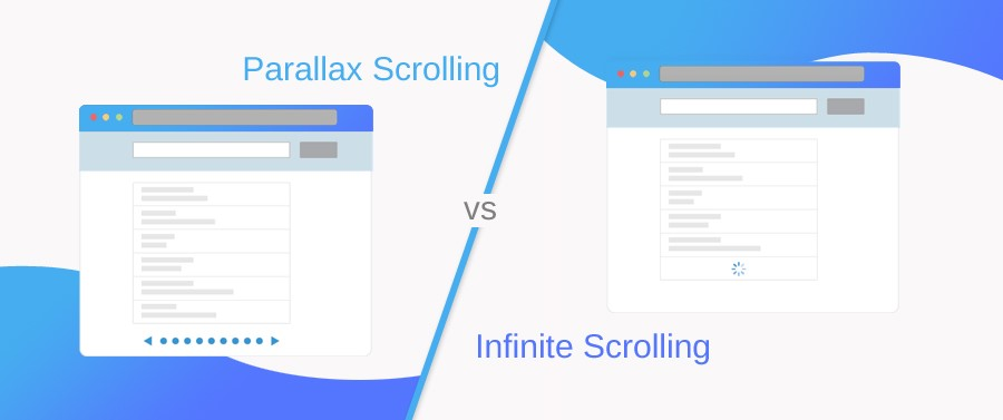 Parallax Scrolling vs Infinite Scrolling